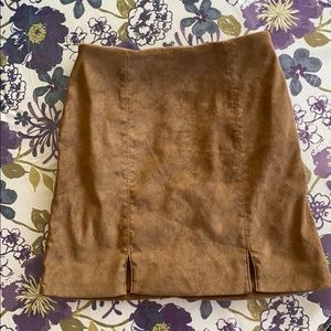 Suede High-Rise Skirt